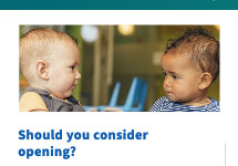toddlers looking at each other, Should you consider reopening?