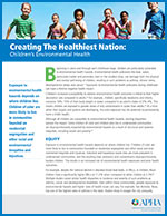 Creating the Healthiest Nation: Children's Environmental Health children running in field