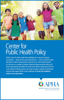 Center for Public Health Policy, children arm in arm