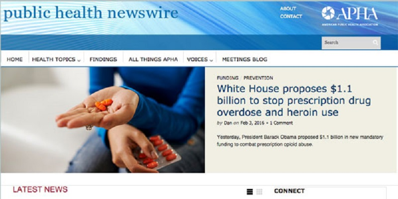 Public Health Newswire screenshot