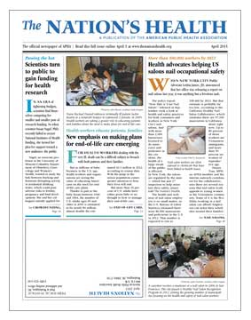 The Nation's Health front page