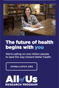 The future of health begins with YOU, All of Us