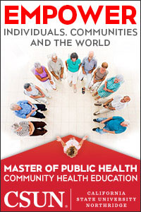 EMPOWER Individuals, Communities and the World, people standing in circle, master of public health, CSUN