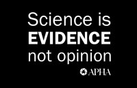 Science is EVIDENCE not opinion