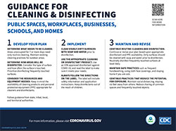 Cleaning and disinfecting public spaces fact sheet