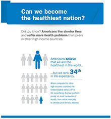 Can we become the healthiest nation?