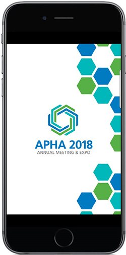 APHA 2018 on phone screen
