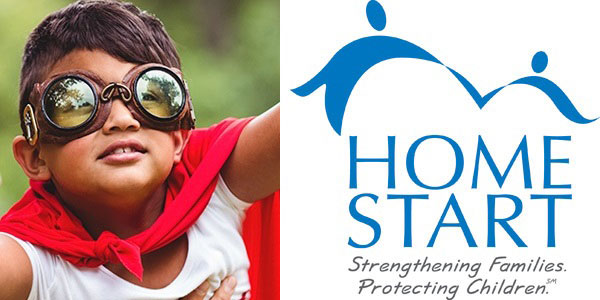 boy with googles and superhero cape Home Start Strengthening Families Protecting Children