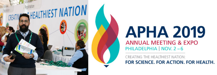 Man at Annual Meeting Registration Desk, APHA 2019 Annual Meeting & Expo