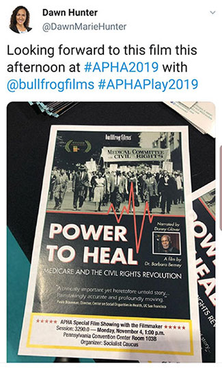 POWER TO HEAL tweet about film