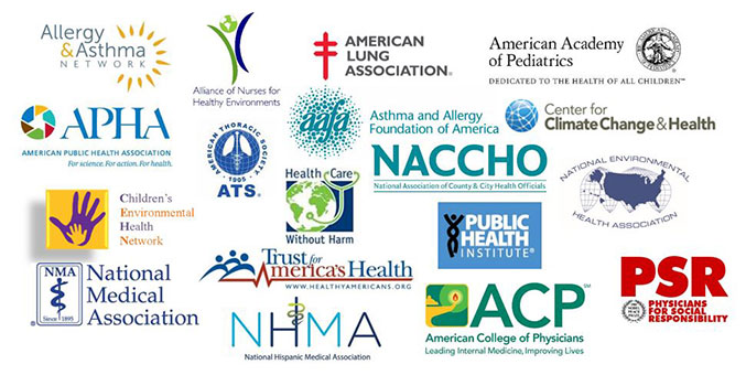 logos from 17 health and medical organizations
