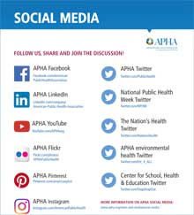 thumbnail of social media flier showing APHA's social media accounts