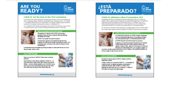 Are You Ready fact sheets in English and Spanish