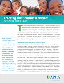 thumbnail of health equity fact sheet showing smiling kids above paragraphs