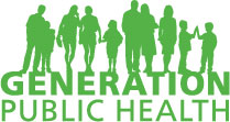 Generation Public Health and silouette of people of all ages