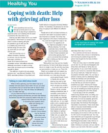 Coping with death: help with grieving after loss
