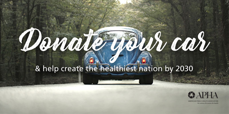 Donate your car Volkswagen Beetle with trees in background